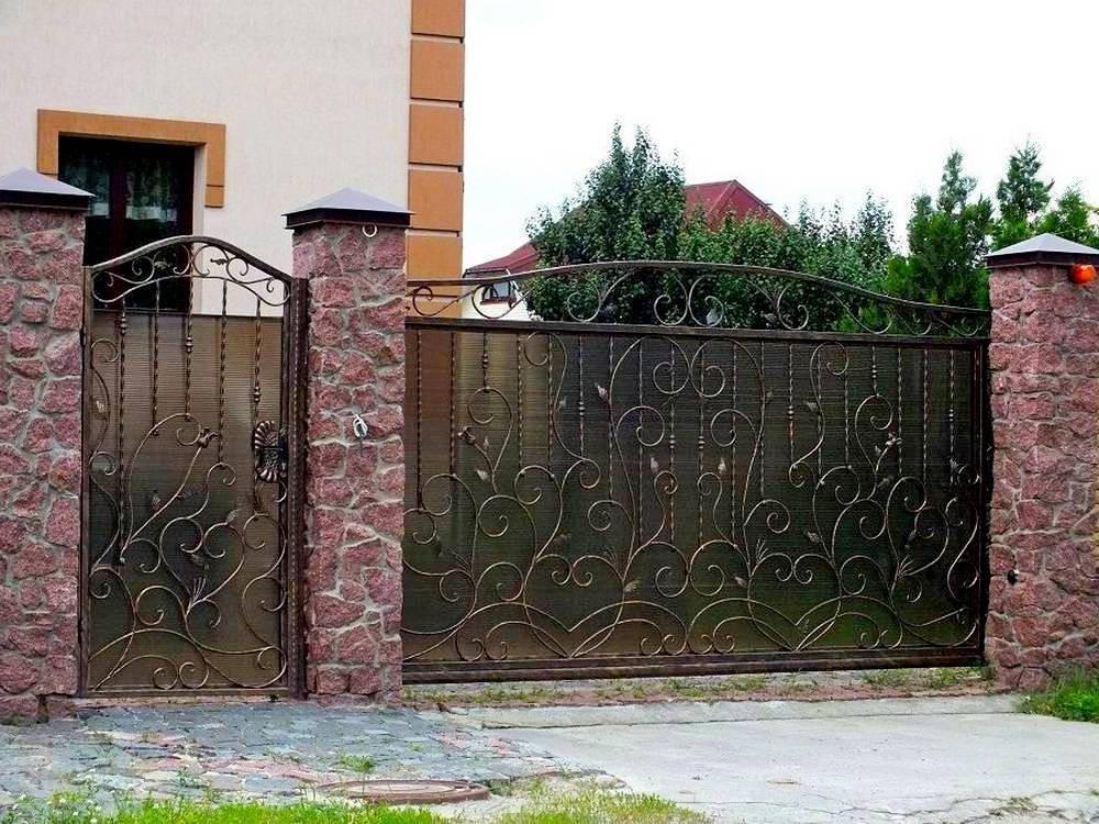 Кованые ворота с калиткой для частного дома Севастополь Крым